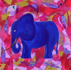 Blue Elephant by Lauren M Foster
