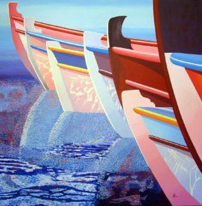 Elounda Reflections 2 by john anderson