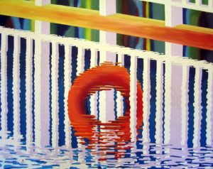 Elounda Reflections 3 by john anderson