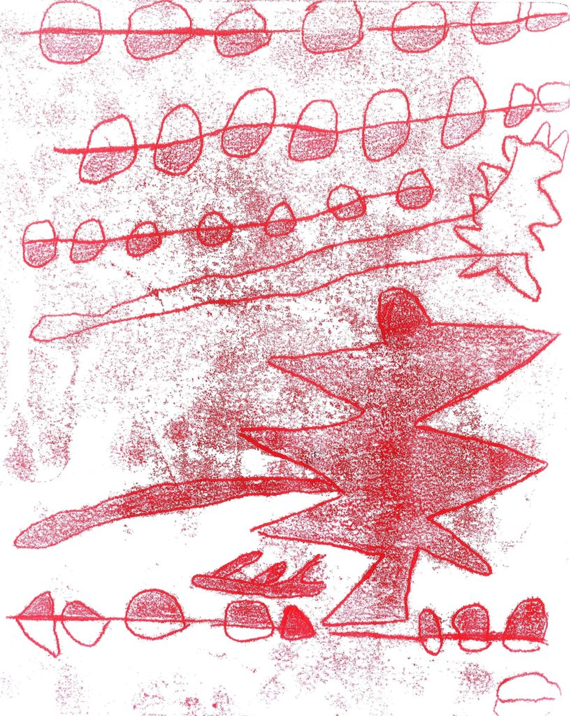 Red Monoprint   If you intend to put this work up for sale