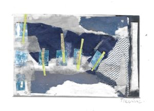 Mixed media collage 21 by jess levine