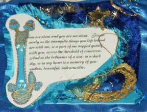 EXTRACT FROM TEXTILE PANEL;LIFE8 by LANDSCAPE OF GRIEF