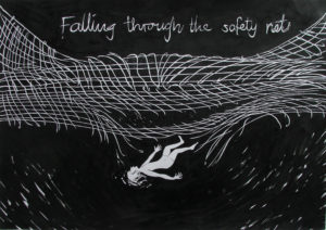 Falling through the safety net by Sarah Walker