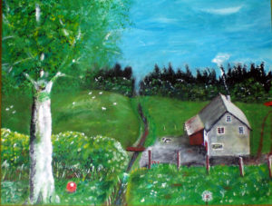 Farmstead with red ball by John57