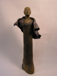 intuitive female figure by Athol Tufnell