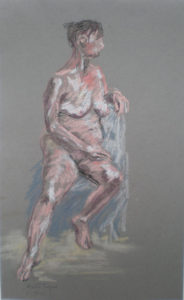 Sitting Nude by Moira Taylor
