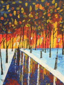 Fire in the Woods by Bernard Parker