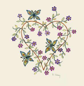 Flower Heart by Sue Trickey