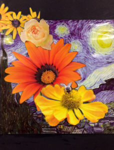 flowers_bees_starry_night by Nadean Stewart