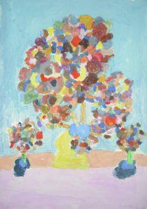 Flowers in a pot by Mandy Hubble