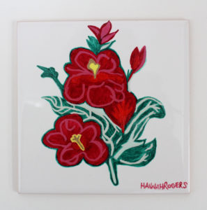 Flower Tile by Hannah Rogers