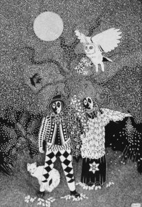 Folk dance in the secret garden by John Lincoln