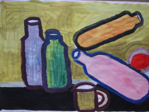 Four Bottles and Mug by Jenny Lewis