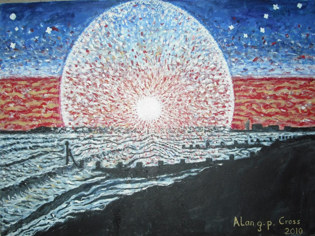 8518 || 2387 || Frozen sunset by the shore || £400.00 || NULL