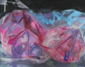 Pink Mountain Crystal by Helen Wrigglesworth