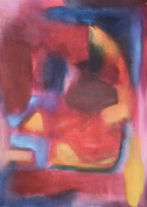 Red abstract by Helen Wrigglesworth