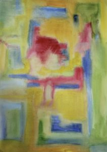 Yellow abstract by Helen Wrigglesworth