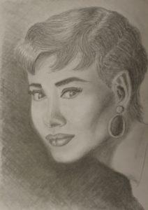Audrey Hepburn by Liz Talma