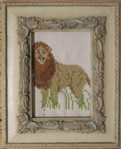 lion in the long grass by Sally van der Westhuizen
