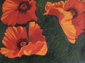 Dancing Poppies III by Golden Sunflower