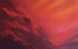 "Fiery Sky by Forest Inferno… ""The breakdown of our climate has begun. There will be more wildfires, unpredictable super storms, increasing famine and untold drought as food supplies and fresh water disappear."" https://rebellion.earth/declaration/"