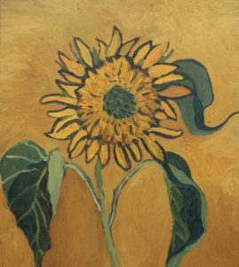 Golden Sunflower by CLARE GRAVENELL