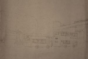 buses at chislehurst by tom breach