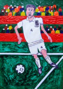 England Footballer by Glitter Landscape and Trees
