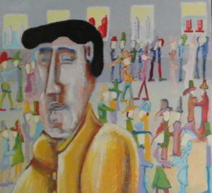 Detail of 'Elvis has just left the building'. by Dawn Clarke