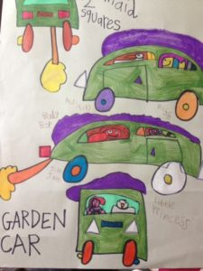 Garden Car by Geneviere Hindness