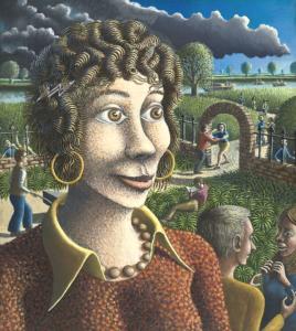 Girl in the Vicarage Garden by Alan Kestner