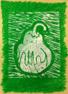 Gourd in a Green Field by Nadean Stewart