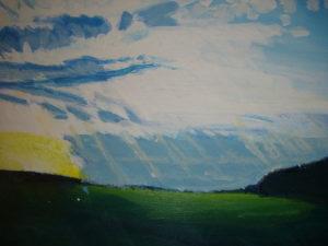 Hand of God Towards Rye by Rowena Turney