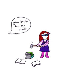 Hit the books by Ruth Mutch