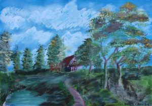 House in the Valley by Bernard Parker