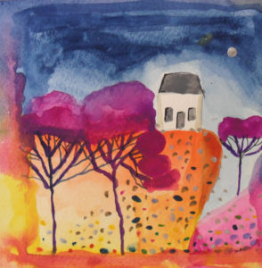 House on the hill by Iain Robertson