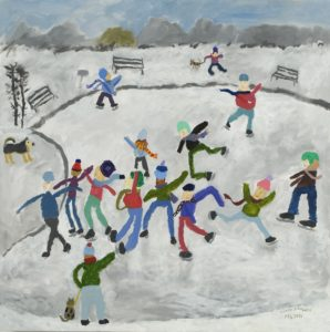 Ice Skaters by Poppy Field