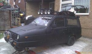 Rat Black Car 2 (or 3 wheels?) by Antony Cullup
