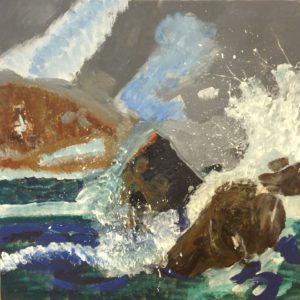 Rocky Sea by J Barry