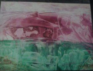 Purple Art Work by Wax in Vision Art
