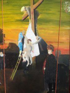 Study of Christ being taken off the cross by Bryan Aldridge
