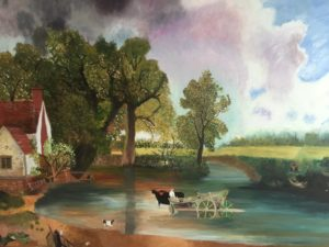 Study of Constable landscape by Bryan Aldridge