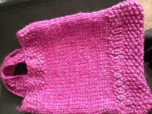 A bag I knitted by Elizabeth Wingate