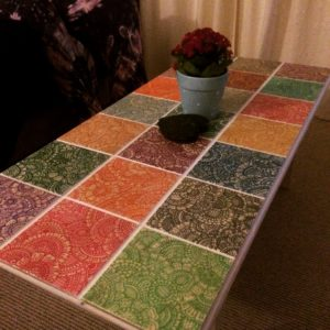 First tile mounted table by Gemma Ellis