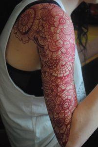 Work on skin by Gemma Ellis