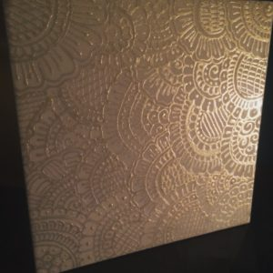Metallic tiles by Gemma Ellis