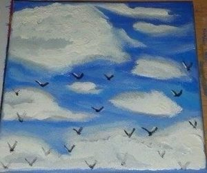 Birds high in the sky by Kara Jane Spencer