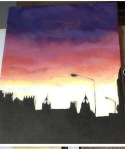 Liverpool skies at night by Kara Jane Spencer