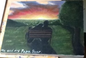 Me and my Papa Bear by Kara Jane Spencer