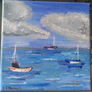 Sailing boats by Kara Jane Spencer